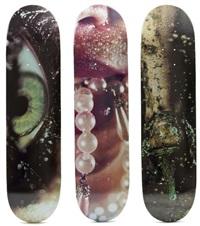 skatedecks (set of 3) by marilyn minter