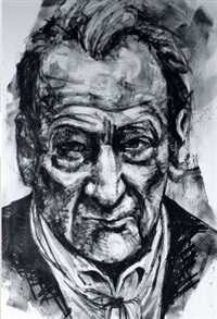 portrait de lucian freud by franck lesieur