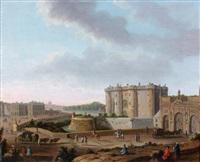 vue de la bastille et de la porte saint-antoine by nicolas louis de lespinasse