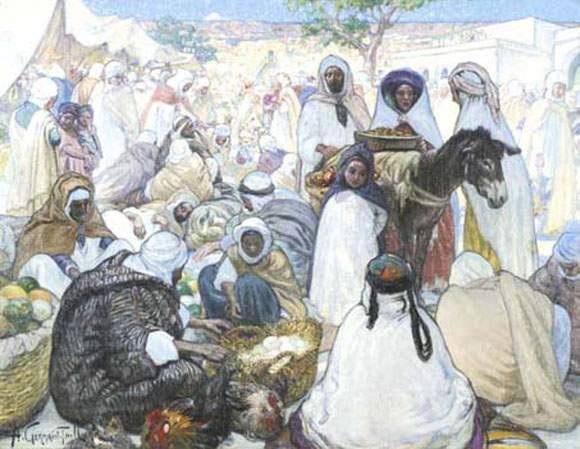 marché arabe by alphonse léon germain thill