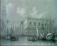 venise, palais des doges et place st. marc, italie by alfred koechlin-schwartz