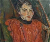 portrait de madame x - portrait rose by chaïm soutine
