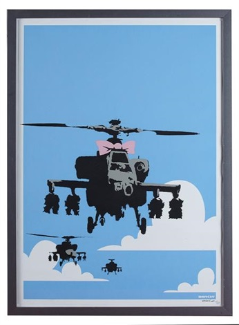 happy chopper by banksy