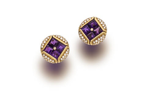 a pair of earclips by bulgari