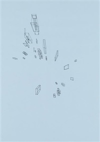 drawing of nothing and nowhere nos. 1-12 (set of 12) by graham gussin