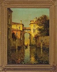 a venetian canal capriccio by noel georges bouvard