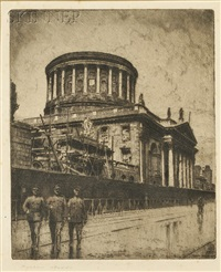 the four courts - dublin (3 works) by morgan dennis