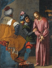 christ before pilate by agostino ciampelli