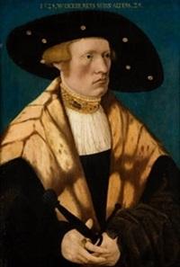 retrato de wiker raiss a la edad de 29 años by conrad (von creuznach) faber