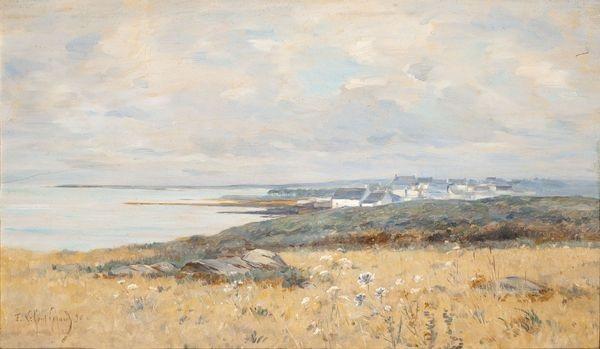 village en bord de mer by fernand marie eugène legout gérard
