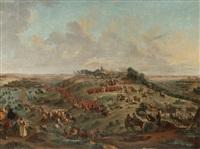 les mouvements de troupes précédant la bataille de fontenoy by jean-baptiste (louis) le paon