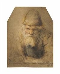 head and shoulders of a bearded old man by constantijn daniel van renesse