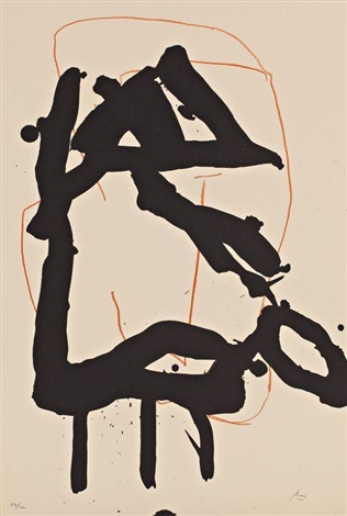 sans titre from beau geste pour lucrece by robert motherwell
