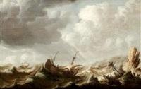 marine sur une côte rocheuse by pieter coopse