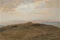 landscape with view to the sea (+ 4 others, incl. 3 cartoons; 5 works) by charles a. buchel