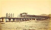 pont à une voie sur le doubs, molay by achille quinet