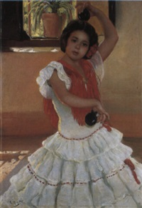 a young girl dancing by rafael argeles y escriche