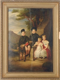group portrait of children in a landscape by scottish school (19)