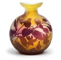 vase mit fuchsien by cristallerie d'emile gallé
