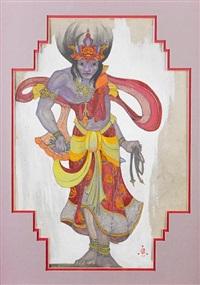 tibetan costume by svetoslav nikolaevich roerich
