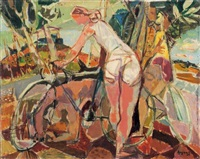 les cyclistes by jean claude aujame