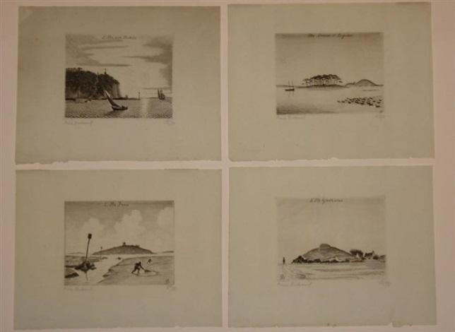iles bretonnes (9 works; various sizes) by pierre dubreuil