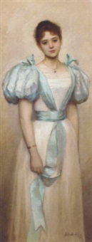 an elegant young girl by irene hilberth