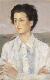 porträt einer jungen frau by roberto melli