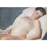 reclining nude by william sergeant kendall