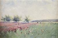 les paysans au champ by eugène galien-laloue