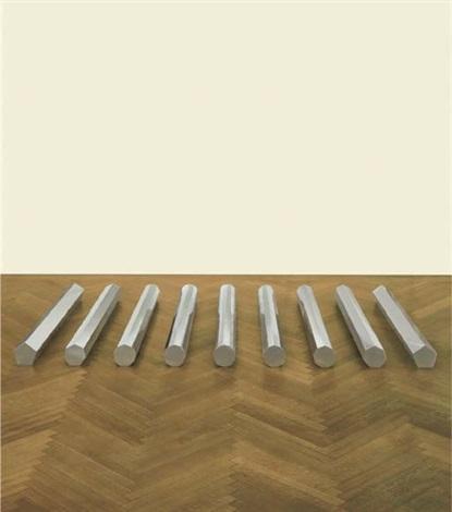 large rod series circlerectangle 5 7 9 11 13 by walter de maria