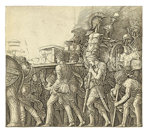 triumph of caesar soldiers carrying trophies by andrea mantegna