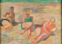 kobiety na plaży by jozef jarema