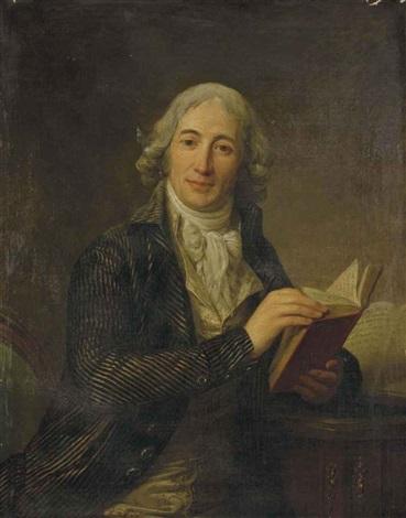 portrait du ministre etienne louis hector de joly tenant un livre by antoine vestier