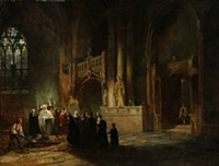 a funeral in a cathedral by david roberts