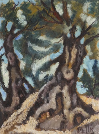 trees in the landscape by arieh allweil