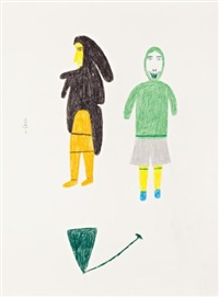 untitled (woman, man and tent) by luke anguhadluq