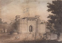 the delhi gate of the shaniwarwada palace, pune (poona), india, 1820 by neil cormack