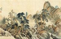 1934作 秋山幽溪 by liu zigu