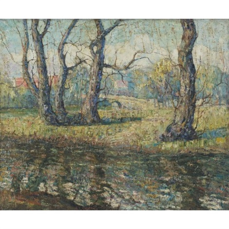 old willows by ernest lawson