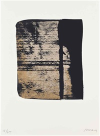 one plate, from: sur le mur d'en face by pierre soulages