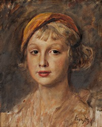 portrait de jeune fille by romain kramstyk