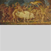 the abduction of europa and landscape (verso) by adam sherriff scott