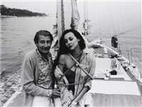 helmut newton and marie helvin by john swannell