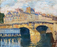 vue du pont-neuf by george oberteuffer