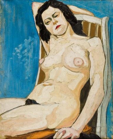 portrait de femme nue by maurice le scouezec