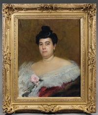 portrait de femme by francois-maurice lard
