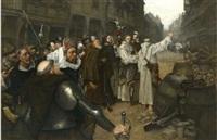 l'accueil à orléans, par le clergé ligueur et par le corps de ville, de charles de lorraine, duc de guise, le 2 septembre 1591 by charles henri pille