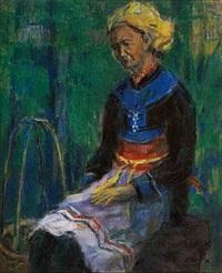 1980 山地妇人 by chen yinhui