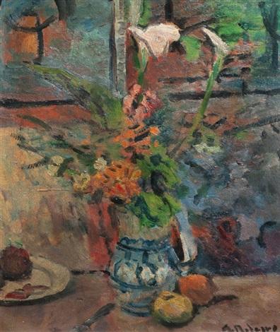 jarrón con flores by alceu ribeiro